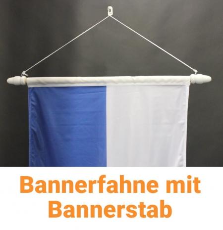 Bannerfahne mit Bannerstab für Fahnenmasten