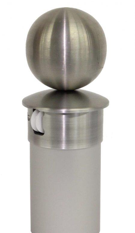 Edelstahlkugel für Fahnenmast mit innenliegender Seilführung