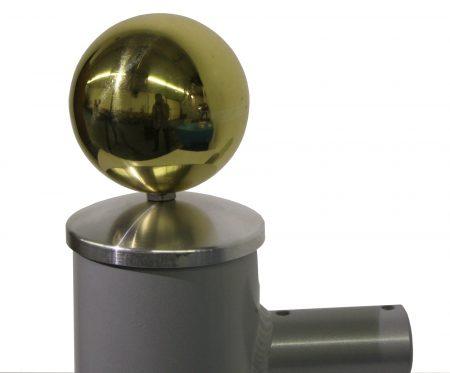 goldene hohlkugeln für Fahnenmast