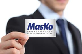 MasKo Fahnenmasten Visitenkarte