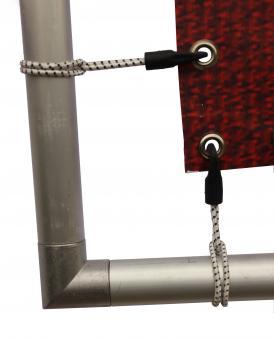 Bannerrahmen Details Eckverbinder Seil