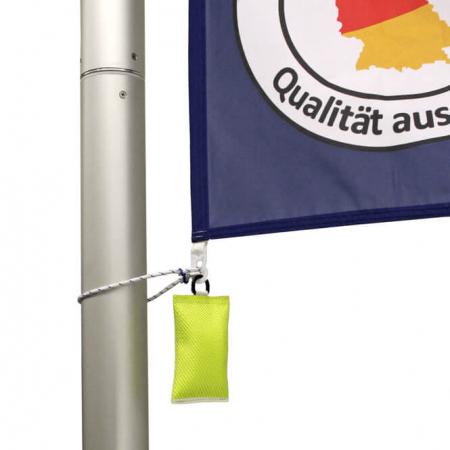 Fahnengewicht / Fahnensäckchen in gelb für Fahnenmasten mit Fahne