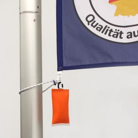 Fahnengewicht / Fahnensäckchen in orange für Fahnenmasten mit Fahne