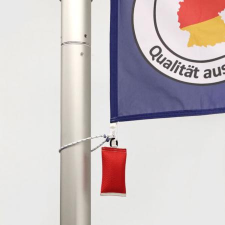 Fahnengewicht / Fahnensäckchen in rot für Fahnenmasten mit Fahne