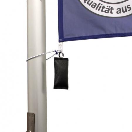 Fahnengewicht / Fahnensäckchen in schwarz für Fahnenmasten mit Fahne