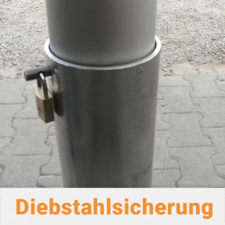 Diebstahlsicherung für Fahnenmast mit Bodenhülse