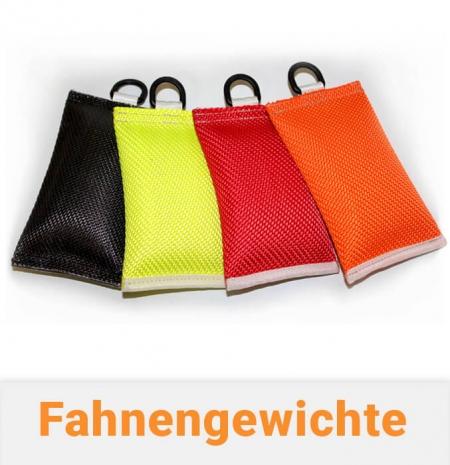 Fahnengewicht / Fahnensäckchen mit Schwingstop farbig für Fahnenmasten mit Fahne