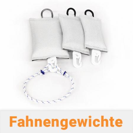 Fahnengewicht / Fahnensäckchen mit Schwingstop für Fahnenmasten mit Fahne
