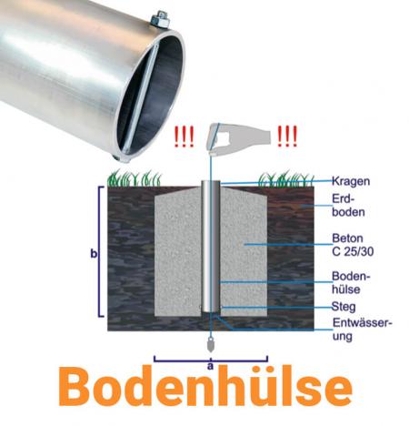 Fahnenmastbefestigung - Bodenhülse für Fahnenmasten