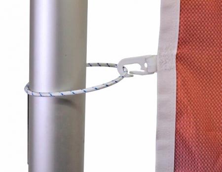 Seilschlaufen geschlossen für Fahnenmast mit Fahne