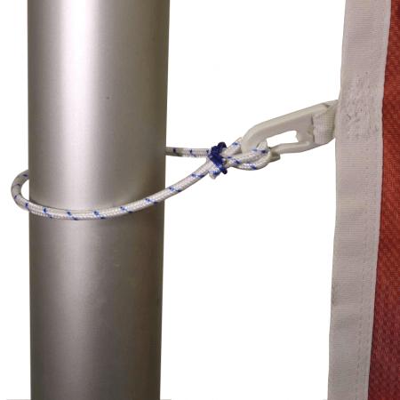 Seilschlaufen offen für Fahnenmasten mit Fahne