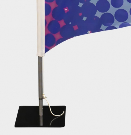 Beachflags Befestigung - Beachflag Bodenplatte mit Drehdorn und Beachflag