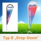 Beachflag Drop Down Typ B