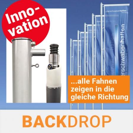 Backdrop System für Fahnenmasten - Alle Fahnen zeigen in die gleiche Richtung
