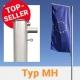 Fahnenmast aus Aluminium von Masko mit Ausleger hissbar