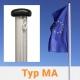 Masko Fahnenmasten mit außenliegender Seilführung Typ MA