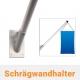 Fahnenmastbefestigung - Schrägwandhalter aus Aluminium für Fahnenmast