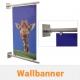 Wallbanner System für Palttenaufnahme