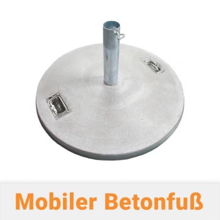Fahnenmastbefestigung - Mobiler Betonfuss für Fahnenmasten