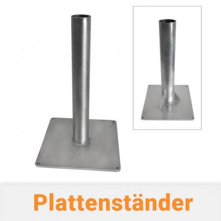 Fahnenmastbefestigung - Plattenständer für Fahnenmasten