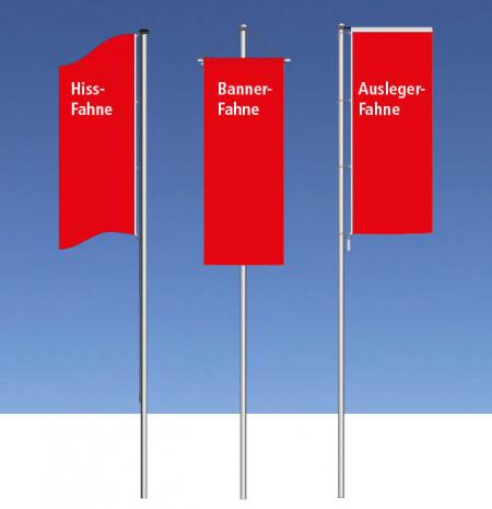Fahnenformen_Hissfahne_Auslegerfahne_Bannerfahne