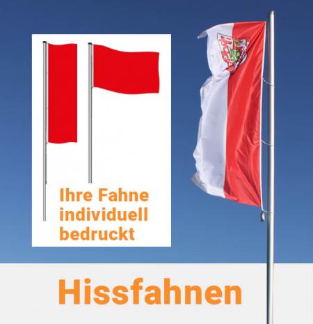Hissfahne in Hoch- und Querformat