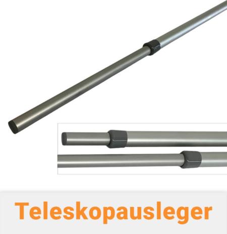 Teleskopausleger für Fahnenmasten